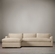 Preconfigured Belgian Slope Arm Upholstered Left-Arm Chaise Sectional