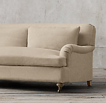 9' Belgian Classic Roll Arm Upholstered Sofa