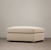 Belgian Classic Roll Arm Upholstered Ottoman