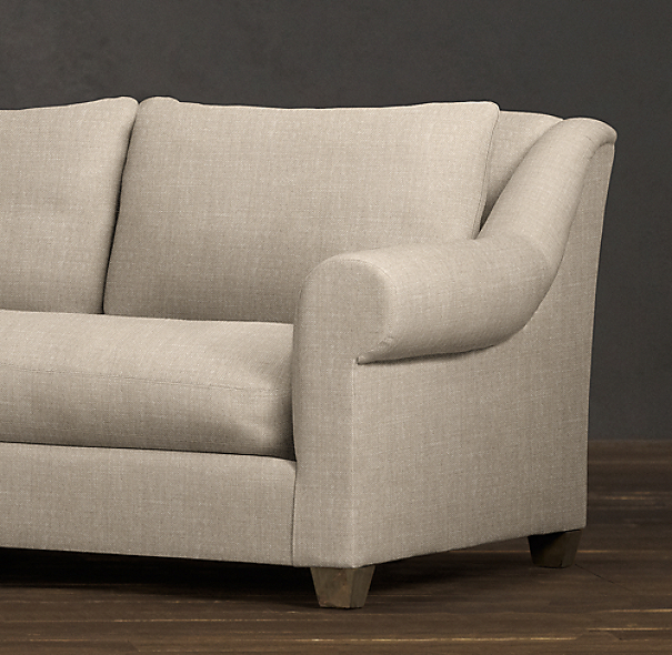 Belgian Roll Arm Upholstered Sofa