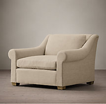 Belgian Roll Arm Upholstered Chair