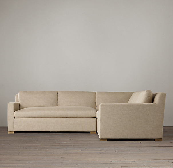 Belgian Track Arm Upholstered Customizable Sectional