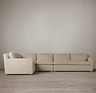 Belgian Track Arm Upholstered L Sectional