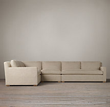 Preconfigured Belgian Track Arm Upholstered L-Sectional