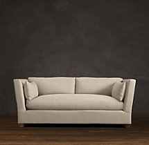 6' Belgian Shelter Arm Upholstered Sofa