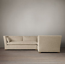 Preconfigured Belgian Shelter Arm Upholstered Corner Sectional