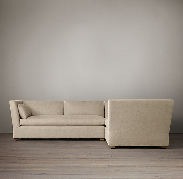 Belgian Shelter Arm Upholstered Customizable Sectional