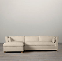 Preconfigured Belgian Shelter Arm Upholstered Left-Arm Chaise Sectional