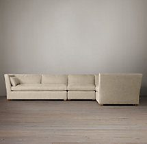 Preconfigured Belgian Shelter Arm Upholstered L-Sectional