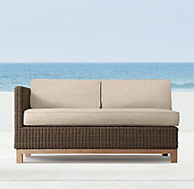 "53"" Malibu Left/Right-Arm Two-Seat Sofa Cushions"