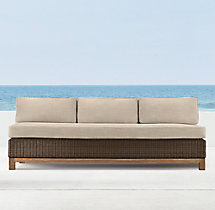 "75"" Malibu Three-Seat Armless Sofa Cushions"