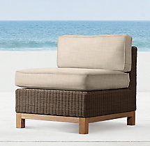 Malibu Armless Chair Cushions