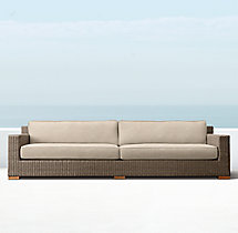 "113"" Biscayne Luxe Sofa Cushions"