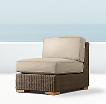 Biscayne Luxe Armless Chair Cushions