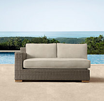 Biscayne Luxe Two-Seat Left/Right-Arm Sofa Cushions