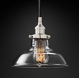 Kitchen utility pendants rh 20th c factory filament barn pendant aloadofball Images