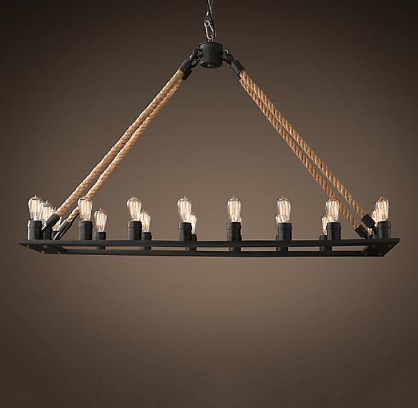 Rope Filament Rectangular Chandelier 59 Quot