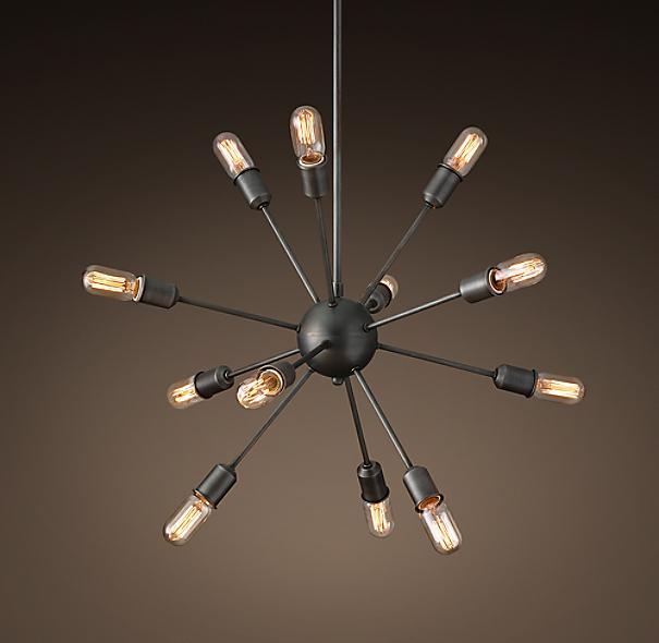 Restoration Hardware Sputnik : Sputnik filament chandelier quot