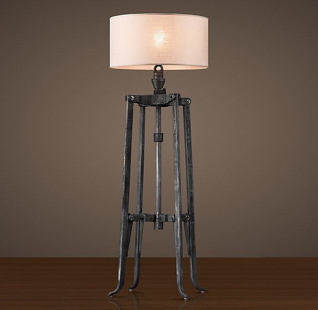 Belgian Industrial Mixer Floor Lamp - Restoration hardware floor lamps