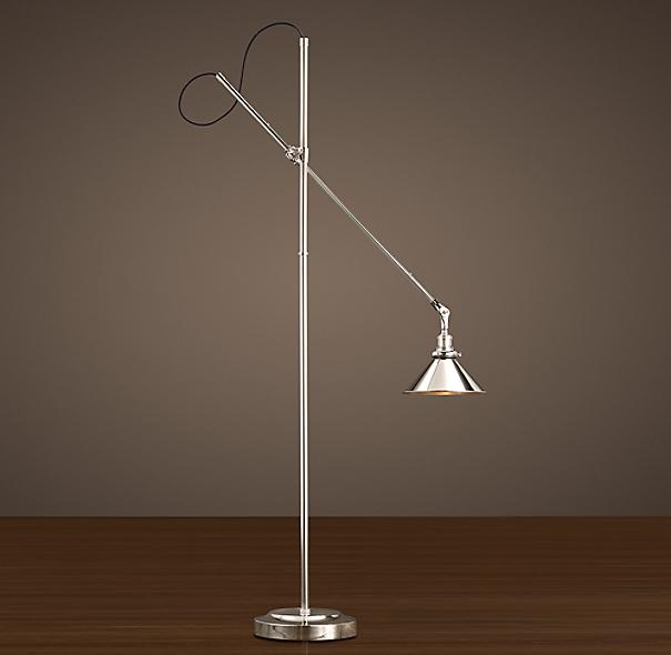 1900s Machinist Task Floor Lamp