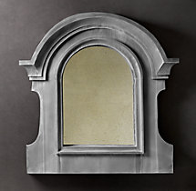 European Zinc Dormer Mirror Notched Double Arch