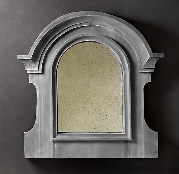 European Zinc Dormer Mirror Notched Double Arch