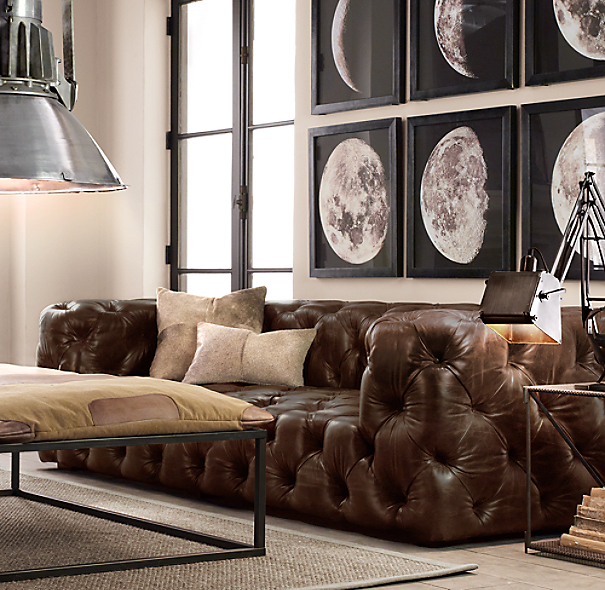 Restoration Hardware Sofa Collection: 1896 Moon Photogravure Prints