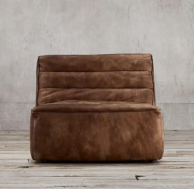 Chelsea Leather Armless Chair