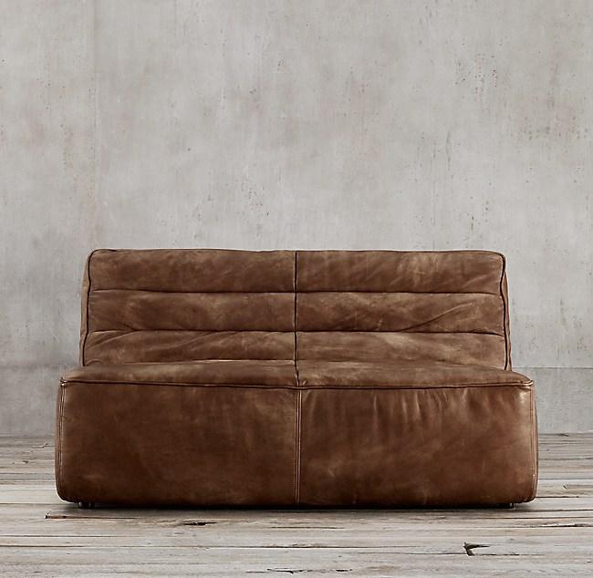 """54"""" Chelsea Leather Sofa"""