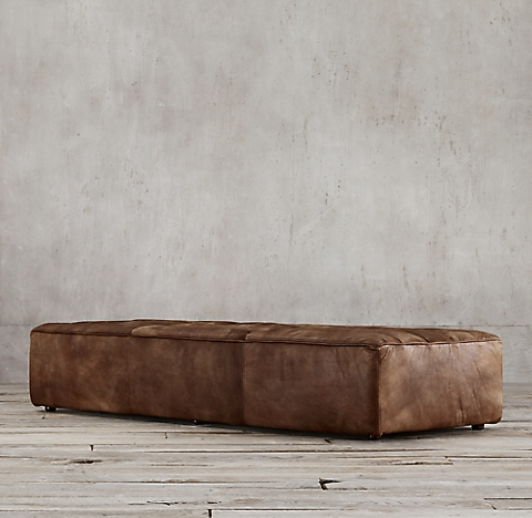 leather ottoman coffee table Ottomans | RH leather ottoman coffee table