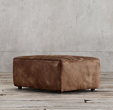 Chelsea Leather Ottoman