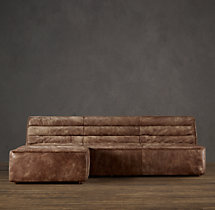 Chelsea Leather Left-Arm Chaise Sectional