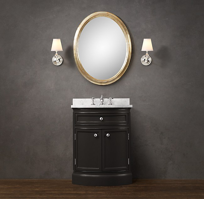 Od on powder room vanity for Powder room vanity sink