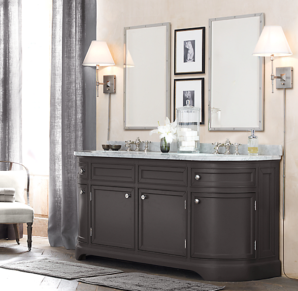 Restoration Hardware Bathroom Vanity Knockoff: Odéon Double Vanity