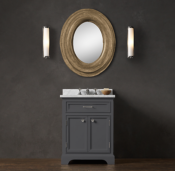 Kent powder room vanity sink for Powder room vanity sink