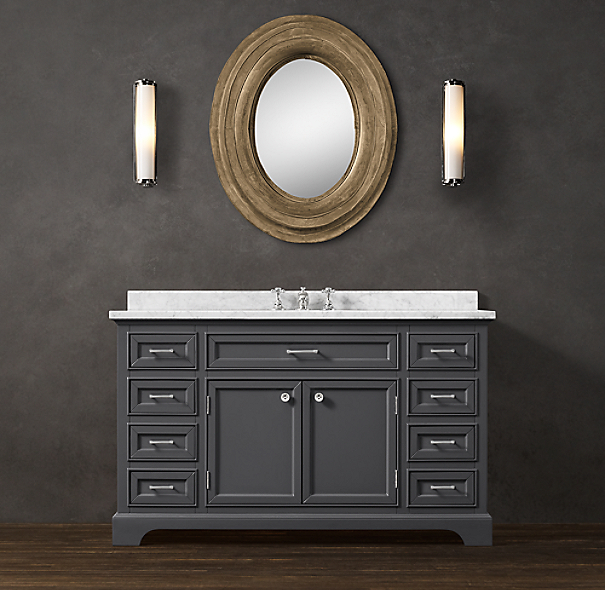 Kitchen Cabinet Handles Restoration Hardware: Kent Single Extra-Wide Vanity