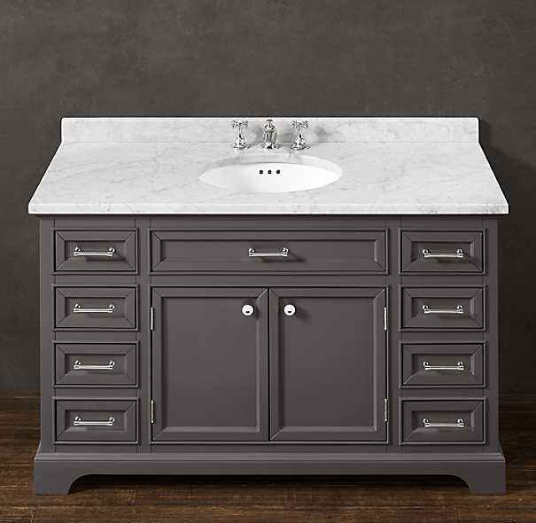 Kent single extra wide vanity - Kraftmaid bathroom cabinets catalog ...