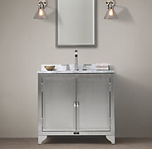 1930s Laboratory Stainless Steel Single Vanity