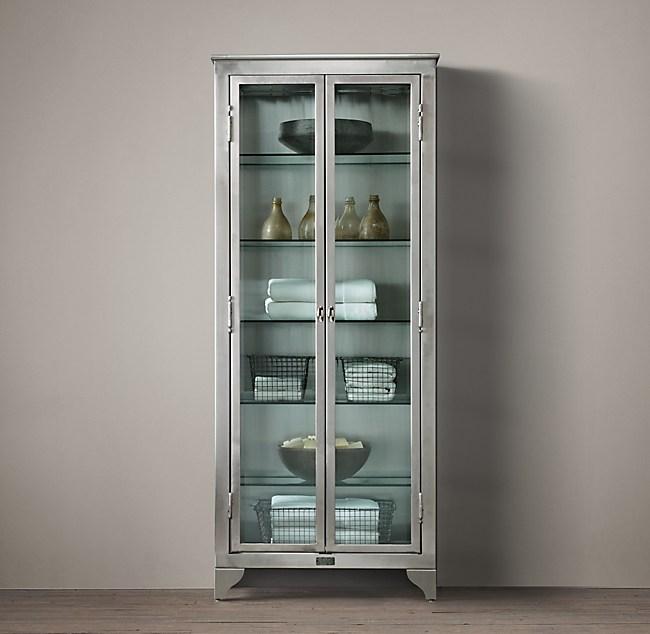 1930s Laboratory Stainless Steel Bath Cabinet Medium