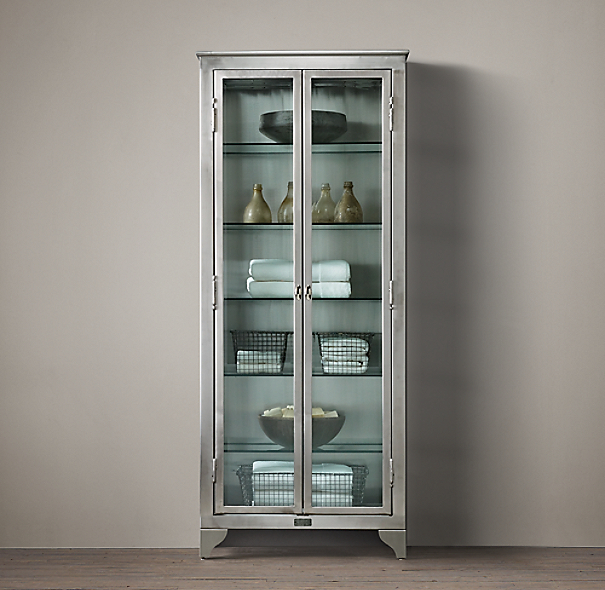 1930s laboratory stainless steel bath cabinet medium - Restoration hardware cabinets ...