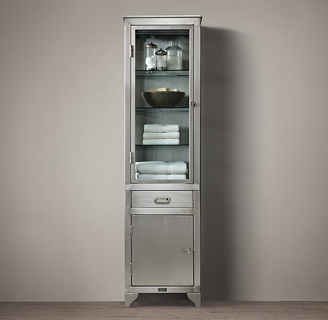 1930s Laboratory Stainless Steel 84, Restoration Hardware Bathroom Storage