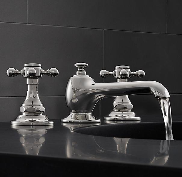 "Eaton Cross-Handle 8"" Widespread Faucet Set"
