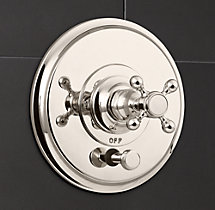 Eaton Cross-Handle Balanced Pressure Tub & Shower Valve & Trim Set with Bath Spout