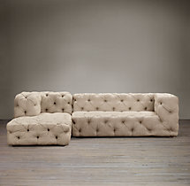 Preconfigured Soho Tufted Upholstered Left-Arm Chaise Sectional