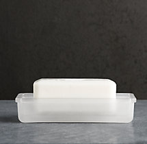 Pharmacy Frosted Glass Soap Dish