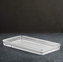 Pharmacy Clear Glass Bath Tray