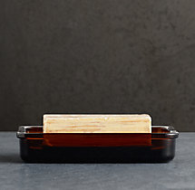 Pharmacy Amber Glass Soap Dish
