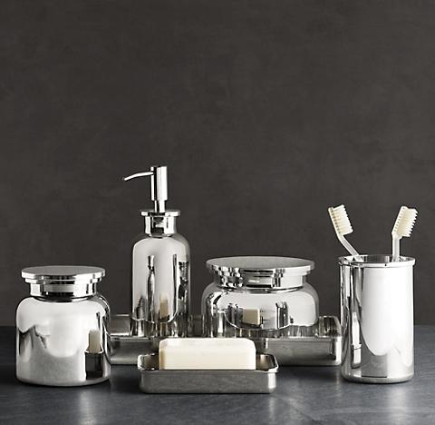 Pharmacy Metal Bath Accessories. Countertop Accessories   RH