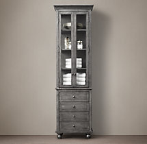 Annecy Metal-Wrapped Tall Bath Cabinet