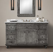 Annecy Metal-Wrapped Extra-Wide Single Vanity Sink